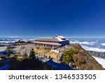 buddhism temple and statue on... | Shutterstock . vector #1346533505