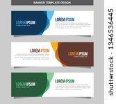 banner vector template... | Shutterstock .eps vector #1346536445