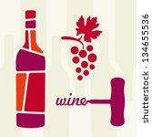 wine theme vector illustration | Shutterstock .eps vector #134655536