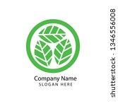 green nature logo | Shutterstock . vector #1346556008