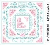 vector set of vintage corners... | Shutterstock .eps vector #1346561285