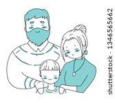 happy family s day. cartoon... | Shutterstock .eps vector #1346565662