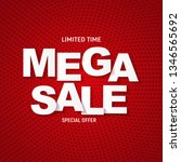 abstract mega sale poster. ... | Shutterstock . vector #1346565692