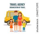 travel agency. organization of... | Shutterstock .eps vector #1346571395