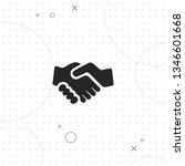 handshake  vector best flat... | Shutterstock .eps vector #1346601668