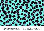 leopard print. animal skin... | Shutterstock .eps vector #1346607278