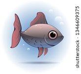 cute little fish. vector... | Shutterstock .eps vector #1346609375