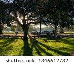 beautiful sunset in centennial... | Shutterstock . vector #1346612732