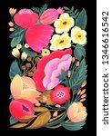 peony flowers illustration  | Shutterstock . vector #1346616542