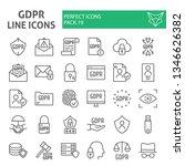 gdpr line icon set  general... | Shutterstock .eps vector #1346626382