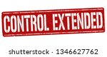 control extended sign or stamp... | Shutterstock .eps vector #1346627762