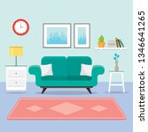 cozy living room with sofa ...   Shutterstock .eps vector #1346641265