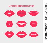 woman's lip gestures set. girl... | Shutterstock .eps vector #1346641388