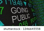 going public stock market... | Shutterstock . vector #1346645558