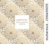 oriental gold and white ornate... | Shutterstock .eps vector #1346650055