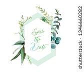 watercolor floral illustration  ... | Shutterstock . vector #1346660282