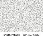 ornament with elements of black ... | Shutterstock . vector #1346676332