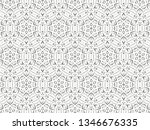ornament with elements of black ... | Shutterstock . vector #1346676335