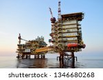asia oil and gas offshore... | Shutterstock . vector #1346680268