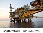 asia oil and gas offshore... | Shutterstock . vector #1346680298
