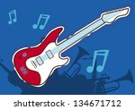 guitar music | Shutterstock .eps vector #134671712