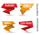 set of sale stickers | Shutterstock .eps vector #134674742