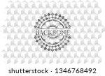 backbone grey emblem. retro... | Shutterstock .eps vector #1346768492