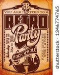 vector stylish color retro... | Shutterstock .eps vector #1346774765