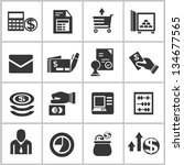 business and financial icons set | Shutterstock .eps vector #134677565