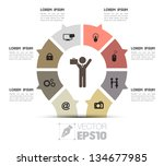 vector  business concepts with  ... | Shutterstock .eps vector #134677985