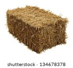 Bale Of Hay Isolated On A Whit...