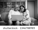 senior indian asian couple... | Shutterstock . vector #1346788985