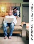 senior indian asian couple... | Shutterstock . vector #1346789012