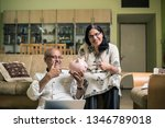 senior indian asian couple... | Shutterstock . vector #1346789018