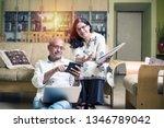senior indian asian couple... | Shutterstock . vector #1346789042