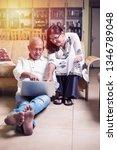 senior indian asian couple... | Shutterstock . vector #1346789048