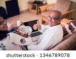 senior indian asian couple... | Shutterstock . vector #1346789078
