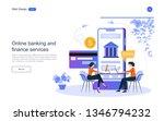 flat design. concept online... | Shutterstock .eps vector #1346794232