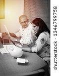 senior indian asian couple... | Shutterstock . vector #1346799758