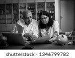senior indian asian couple... | Shutterstock . vector #1346799782