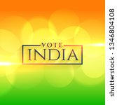 vote india background with... | Shutterstock .eps vector #1346804108