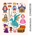 set of fairy tale element icons | Shutterstock .eps vector #134680538