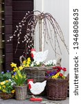 easter decoration with  weeping ... | Shutterstock . vector #1346808635