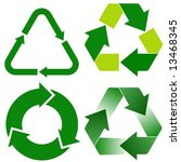 four various recycle icons | Shutterstock .eps vector #13468345