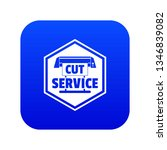 cut service icon blue vector... | Shutterstock .eps vector #1346839082