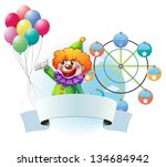 illustration of a clown with... | Shutterstock .eps vector #134684942