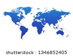 map of world | Shutterstock .eps vector #1346852405