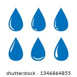 water drop icons collection.... | Shutterstock .eps vector #1346864855