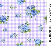 vector seamless pattern with... | Shutterstock .eps vector #1346870438