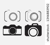 foto camera icon set | Shutterstock . vector #1346883902